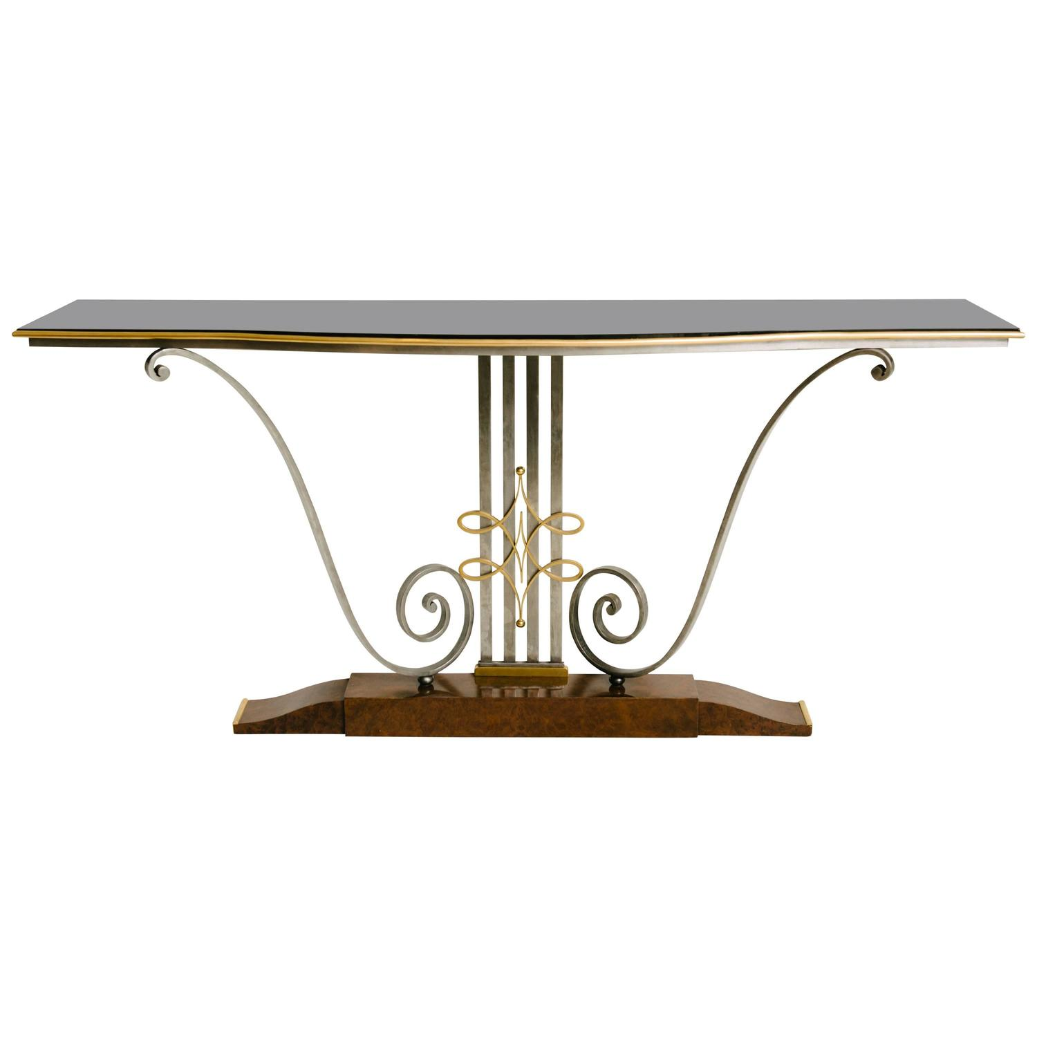 french art deco console table by raymond subes at 1stdibs. Black Bedroom Furniture Sets. Home Design Ideas