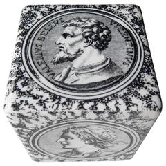 Fornasetti Ceramic Paperweight with Classical Portraits