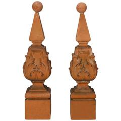 Tall English Terra Cotta Finial