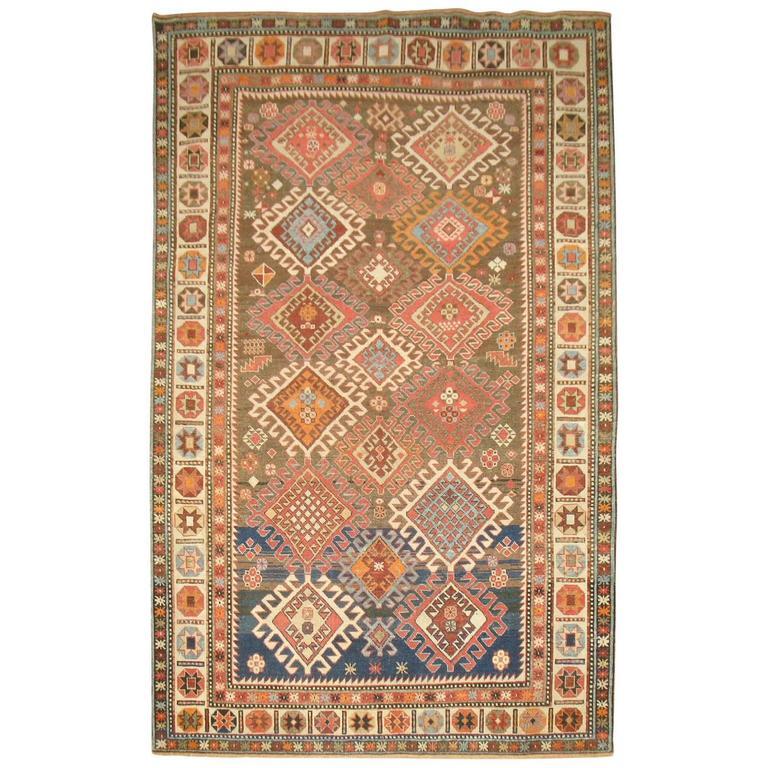 Decorative Antique Shirvan Caucasian Rug 1