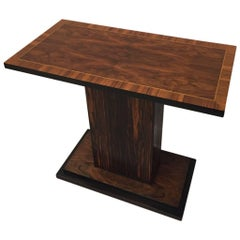 French Art Deco Macassar Ebony Console Table