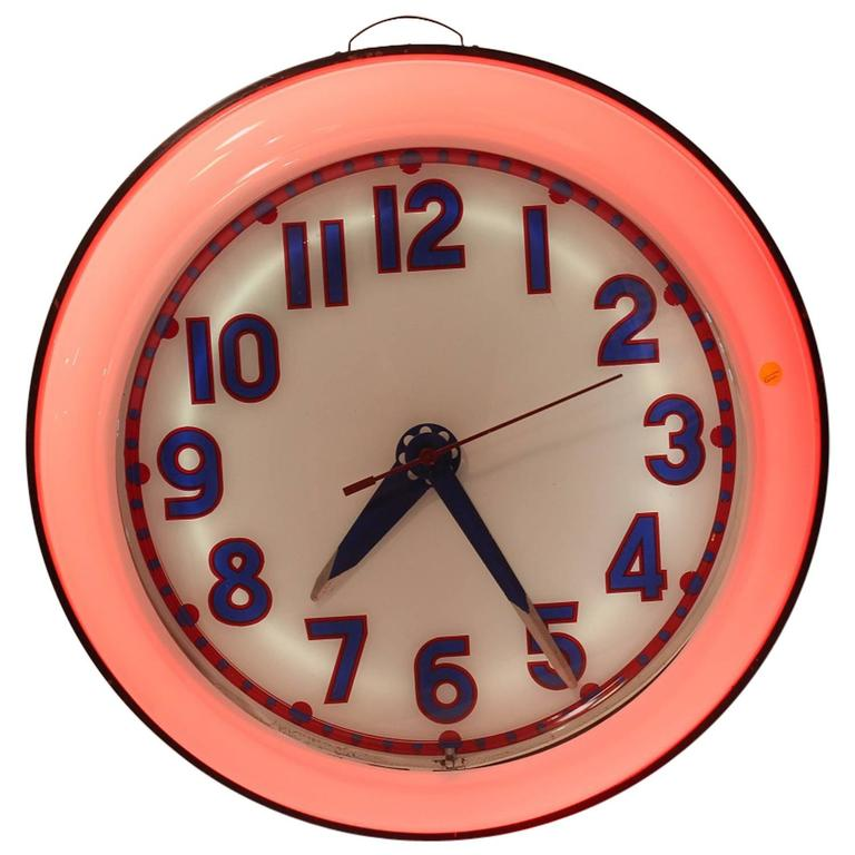 1930s Cleveland Neon Clock At 1stdibs