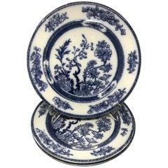 Set of Three Large Blue and White Copeland Indian Tree Plates