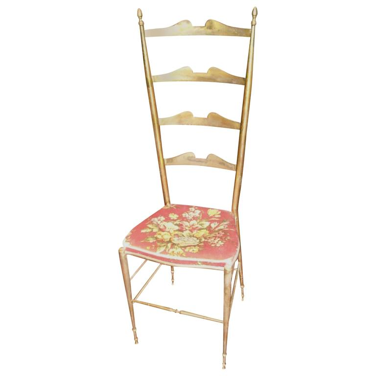 Brass Chiavari Side or Dining Chair, Hollywood Regency, Modern Style