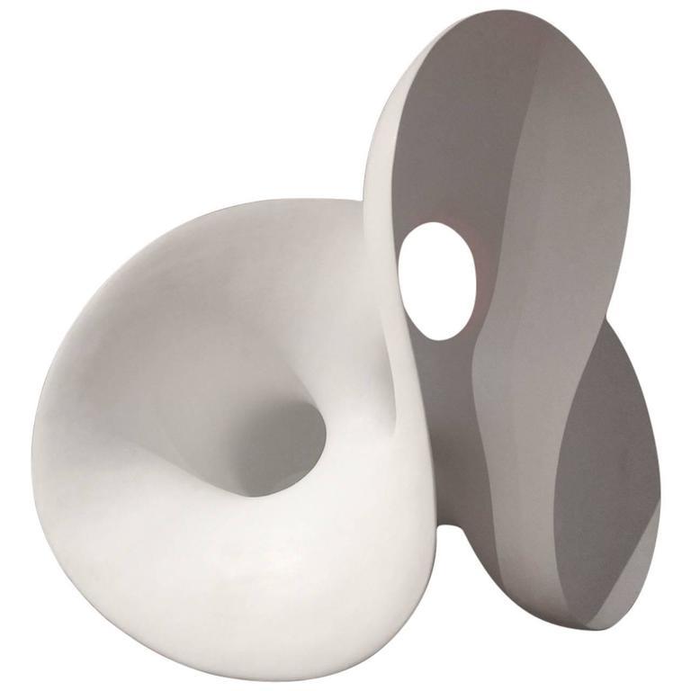 """Eva Hild, """"Loop"""" Unique Stoneware Sculpture, 2004 For Sale"""