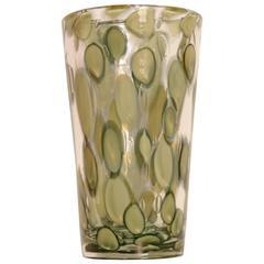 Pino Signoretto Maculato Murano Glass Vase