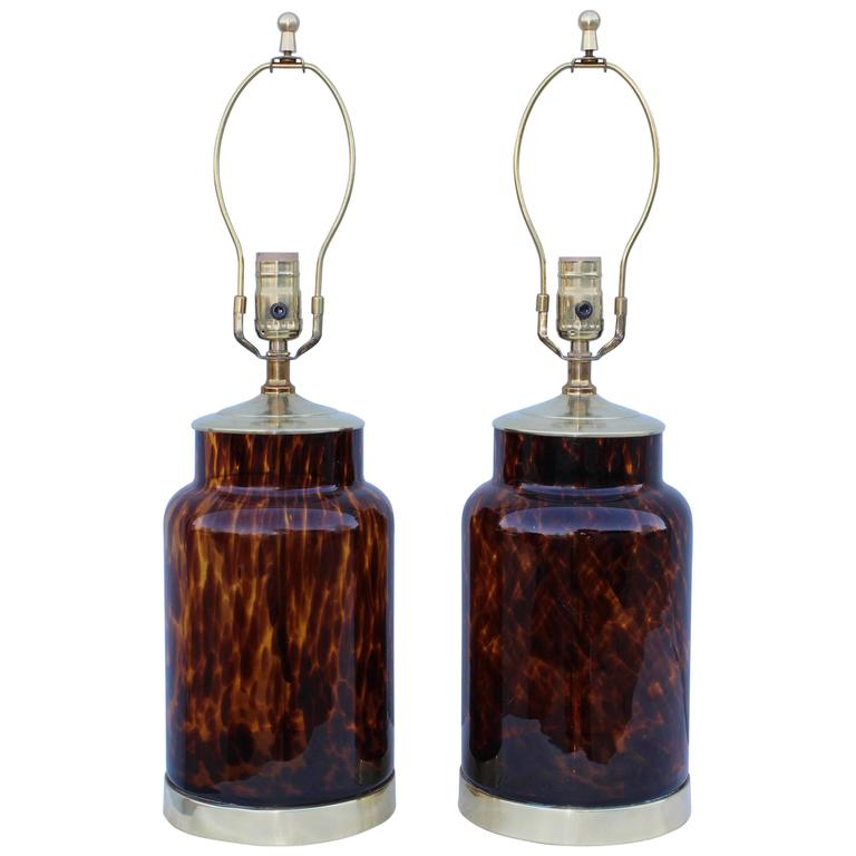 1960s Murano Glass Table Lamps