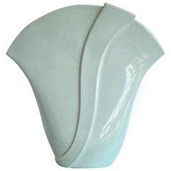 Postmodern Fan Form Ceramic Vase