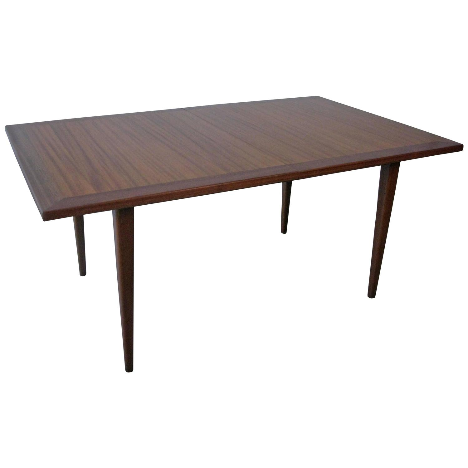 Mid Century Mahogany Dining Table With Two Leaves At 1stdibs