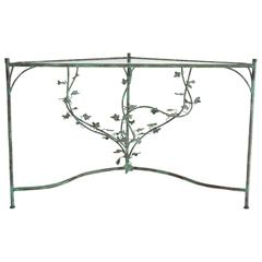 Hand-Wrought Verdigris Scrolling Vine Form Side Table or Console Table