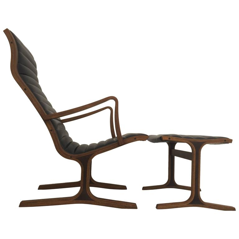 Heron Chair and Footrest by Tendo Mokko Japan