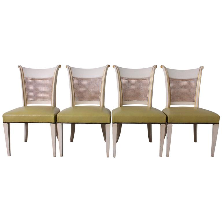 Baker Hollywood Regency Klismos Dining Chairs For Sale At