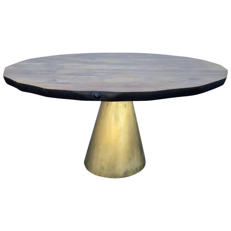 Organic Top Table with Bronze Base