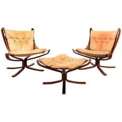 Falcon Chairs and Ottoman Sigurd Resell