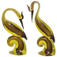 Brilliant and Bright Antonio Daros for Cenedese Murano Birds