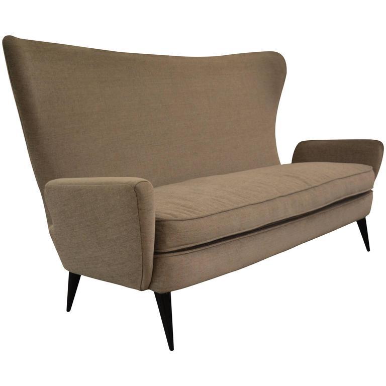 Stunning Italian Sofa After Gio Ponti, circa 1950s