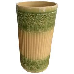 Vintage Ceramic Arts & Crafts Umbrella Stand