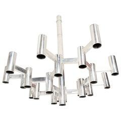 Gaetano Sciolari Aluminum Chandelier Pendant 90 For Sale On 1stdibs