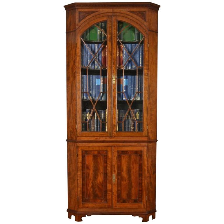 Mahogany Corner Display Cabinet 1