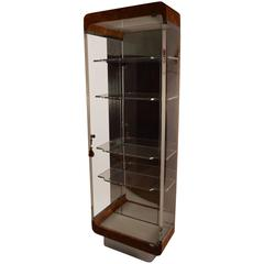 Kagan Burl and Lucite Vitrine Display Case