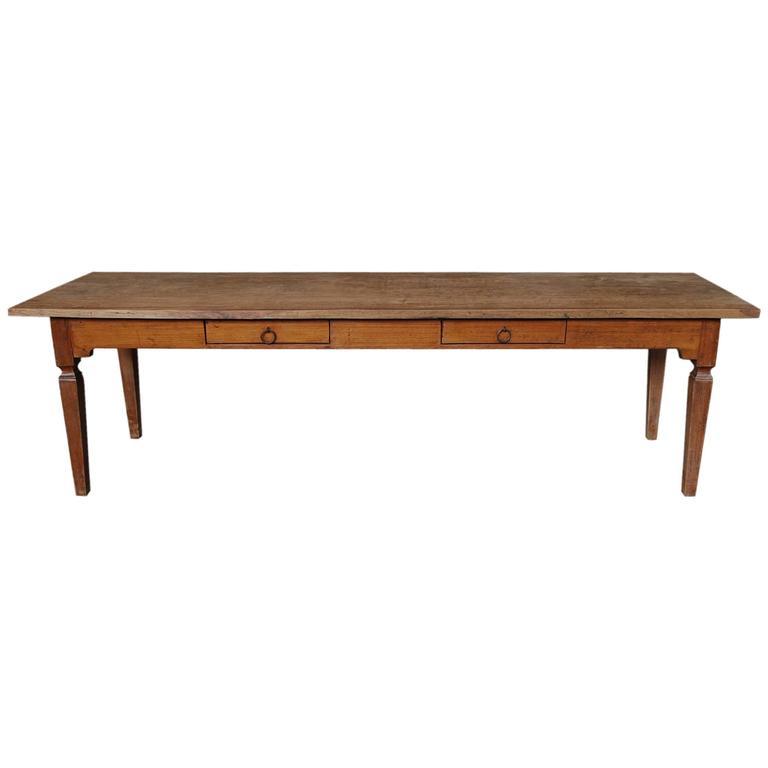 20th century large teakwood kitchen table at 1stdibs