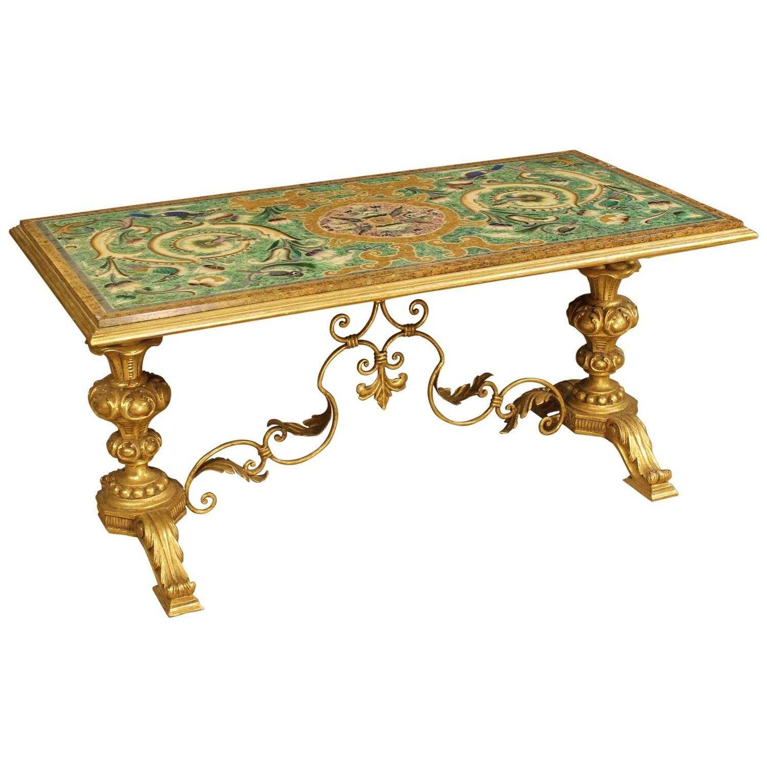 Marvelous photograph of 20th Century Golden Wood and Metal Coffee Table at 1stdibs with #704718 color and 1500x1500 pixels