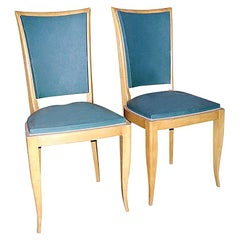 Set of Six French 1940s Side Chairs