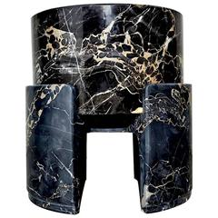 Too Hard to Be True Marble Stool by Kueng Caputo