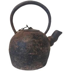 Antique Cast Iron Teapot