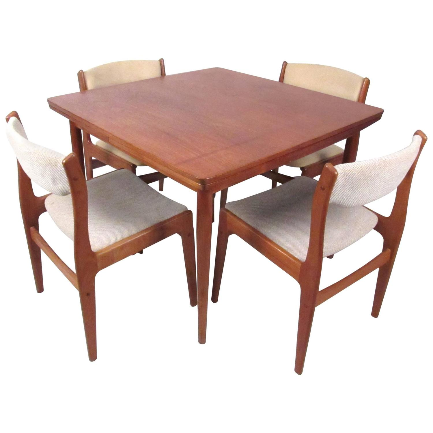 set of mid century modern danish teak dining chairs for sale at
