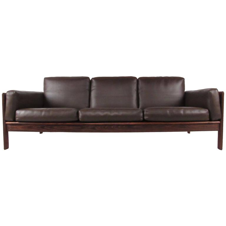 stylish mid century rosewood sofa by komfort for sale at. Black Bedroom Furniture Sets. Home Design Ideas