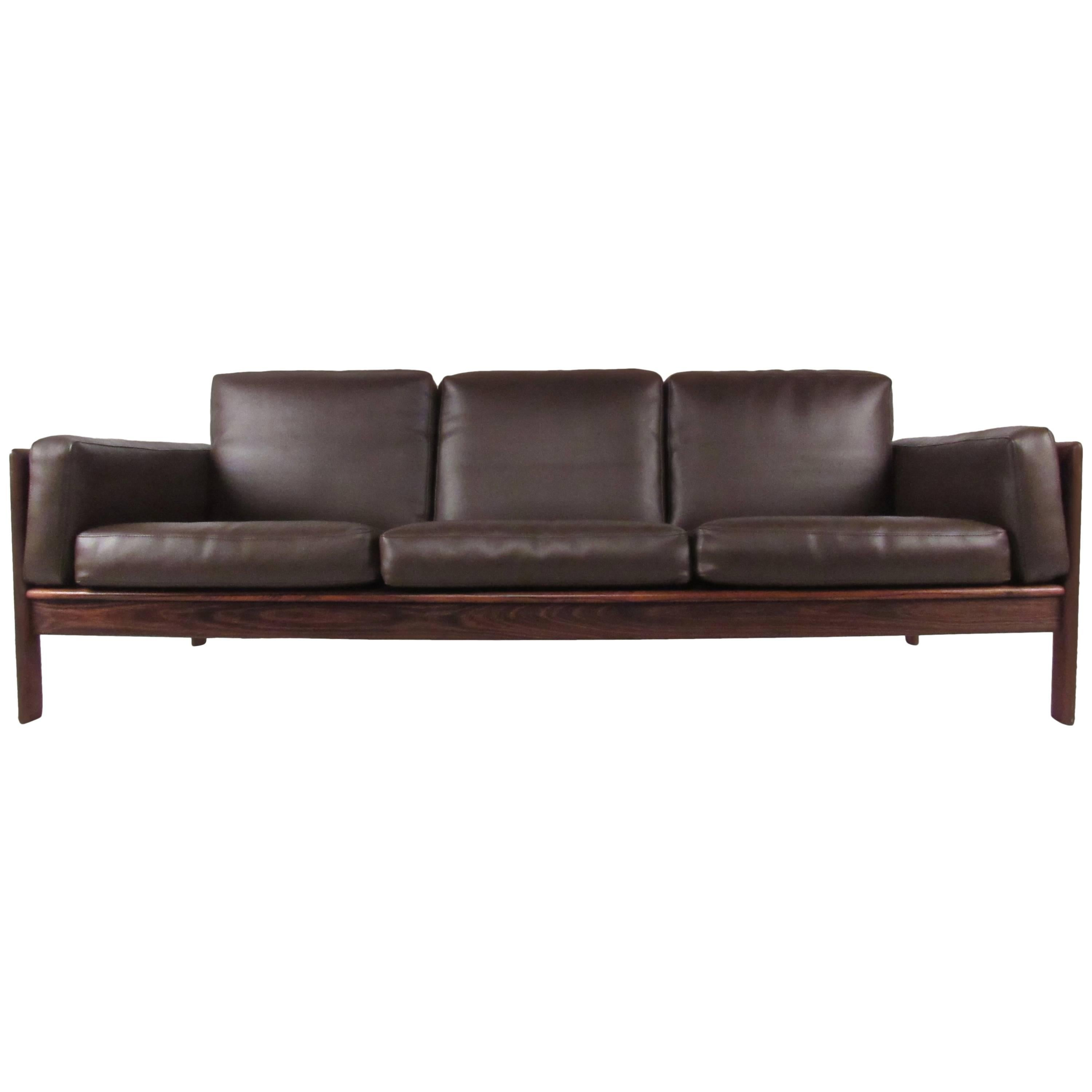 Mid-Century Rosewood Sofa by Komfort For Sale at 1stdibs