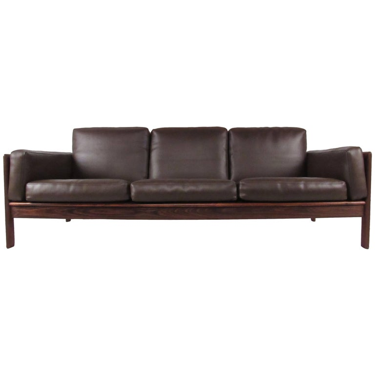 Mid-Century Rosewood Sofa by Komfort For Sale