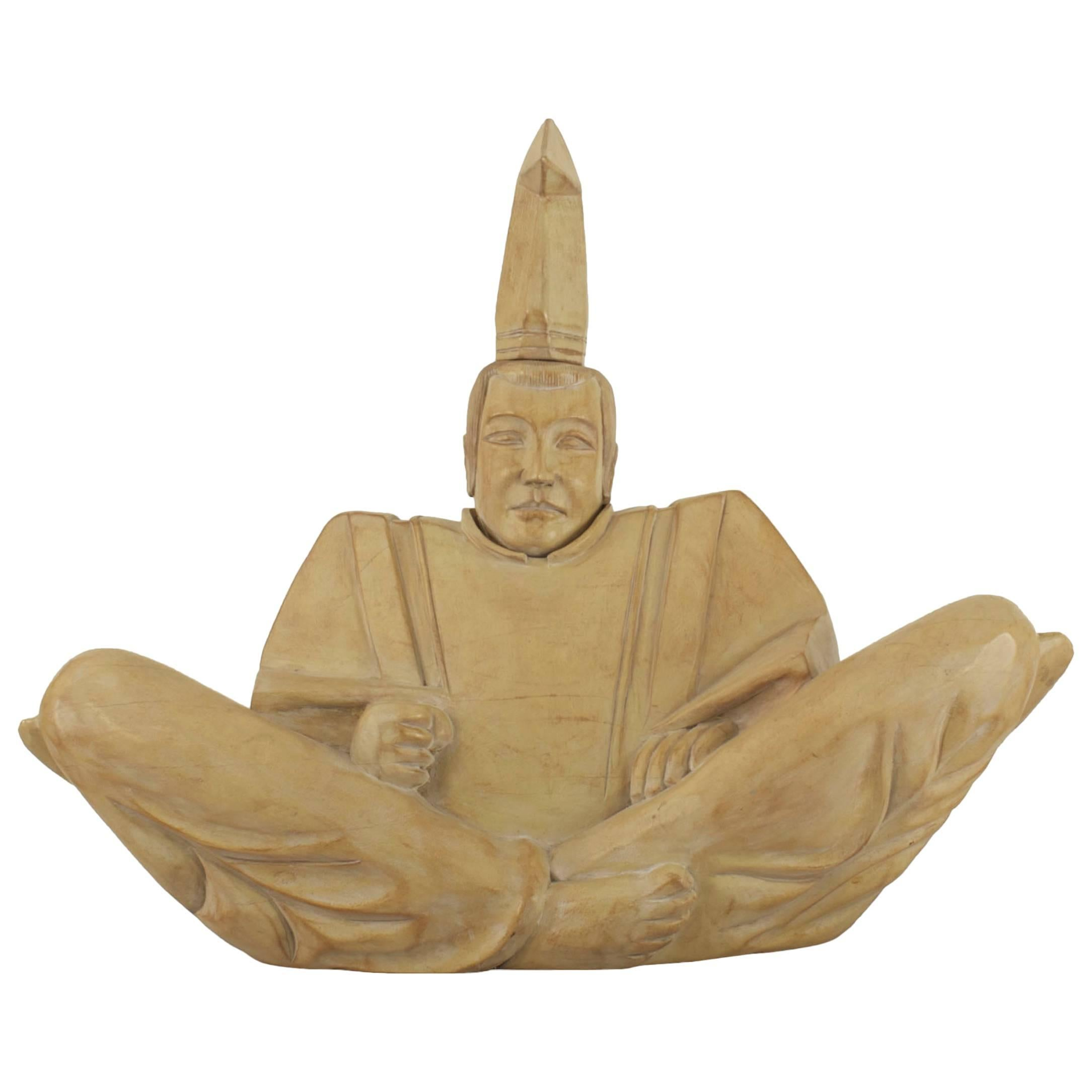 Japanese Wooden Shinto Priest