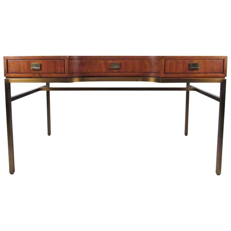 Vintage Campaign Style Desk By Drexel For
