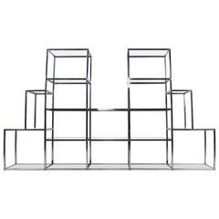 Impressive Mid-Century Modern Milo Baughman Style Etagere Display Shelf