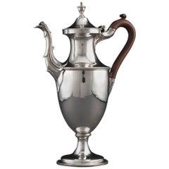 Hester Bateman Antique Silver Coffee Pot, circa 1783