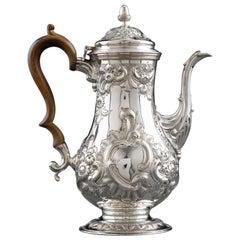 Hester Bateman Antique Sterling Silver Coffee Pot, circa 1780
