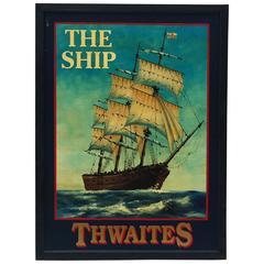 English Pub Sign the Ship Thwaites