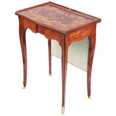 Louis XV Writing Table Kingwood & Marquetry by Leonard Boudin