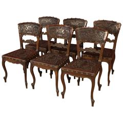 20th Century Leather Group of Chairs