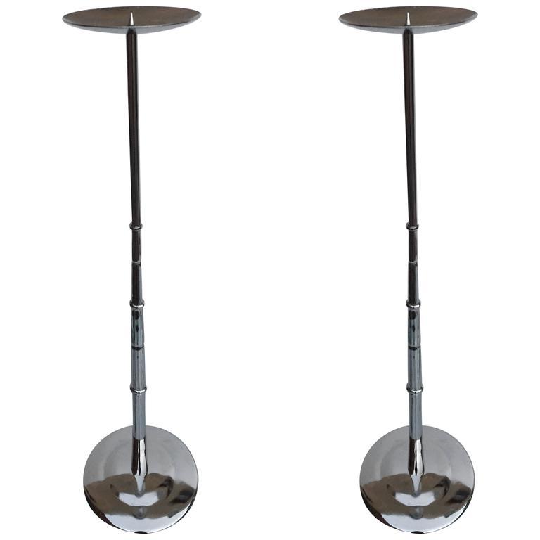 Pair of Tall Candlesticks