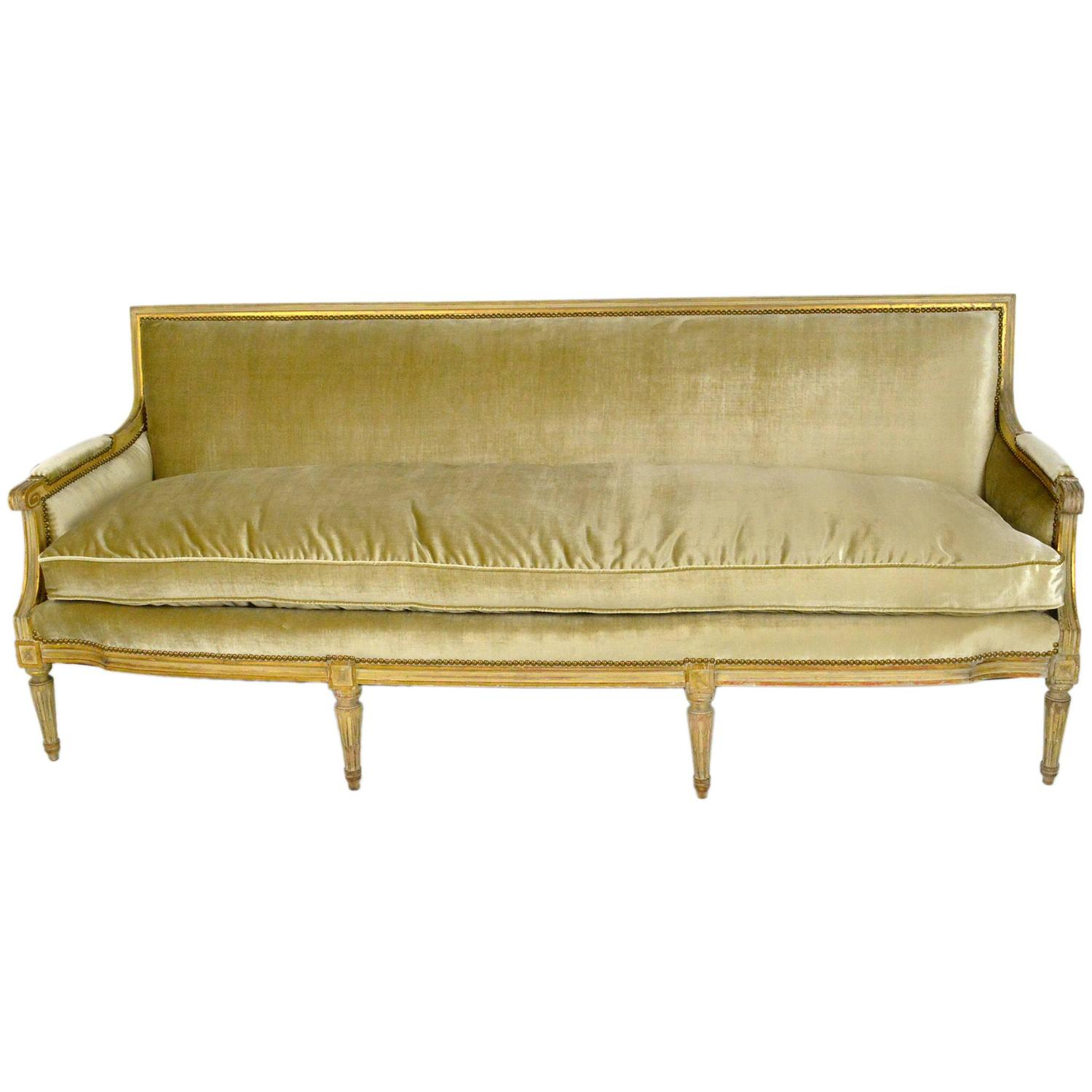 French Louis Xvi Style Painted Canape Sofa At 1stdibs