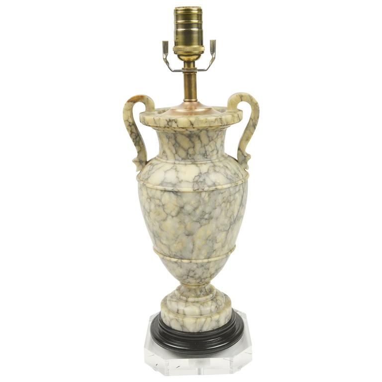Urn Form Alabaster Table Lamp