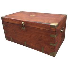 English Camphor Wood Late 19th Century Trunk