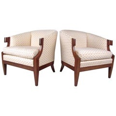 Pair of Vintage Decorator Style Armchairs