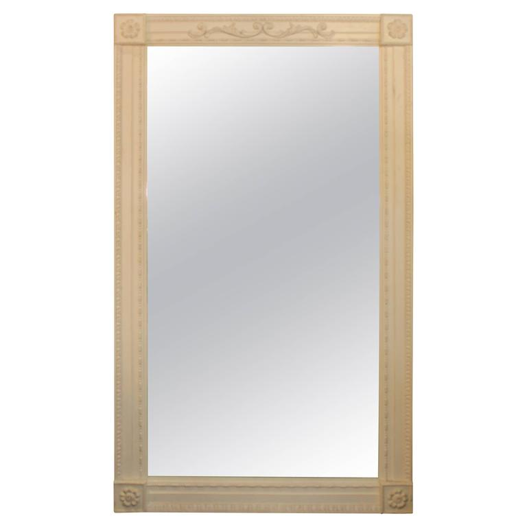Italian white washed large mirror for sale at 1stdibs for Big mirrors for sale