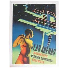 Original Graficas Valencia Spanish Art Deco Poster by Josep Renau-Montoro
