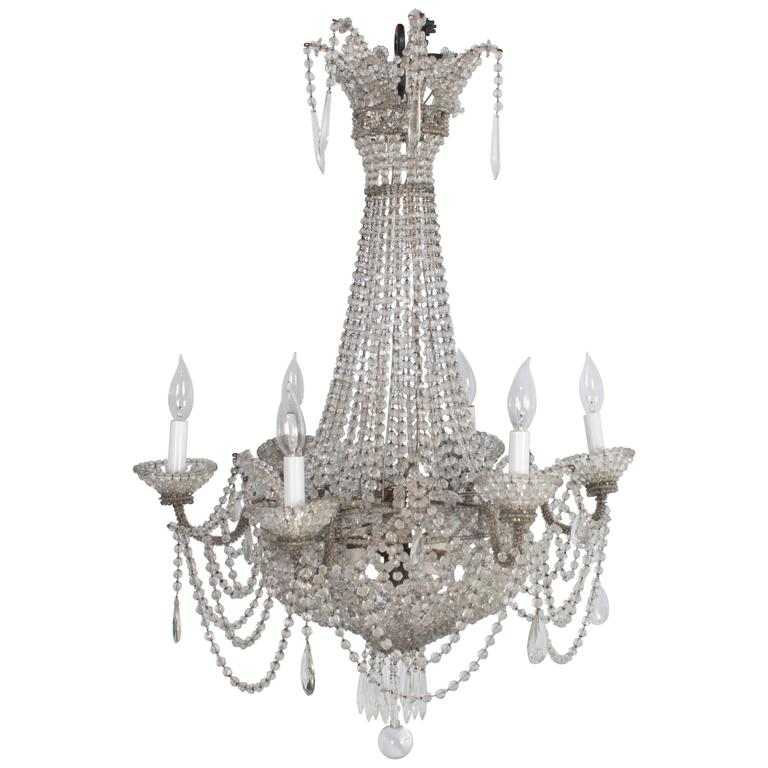 Delicate small french chandelier for sale at 1stdibs delicate small french chandelier for sale aloadofball Gallery