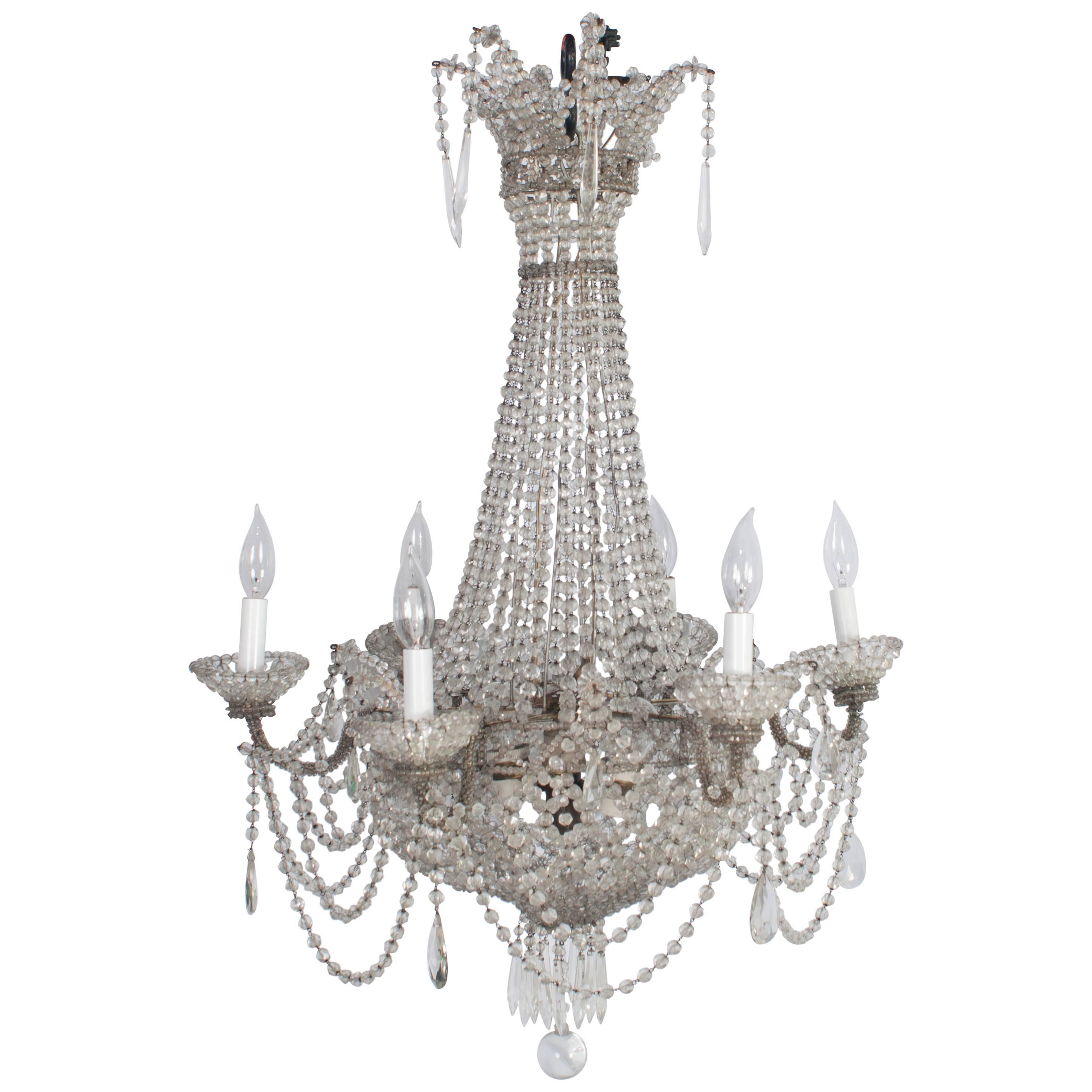 Delicate Small French Chandelier